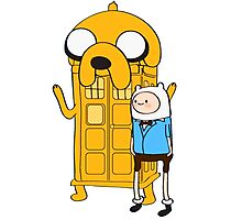 Police Box Jake and Finn Photographic Print