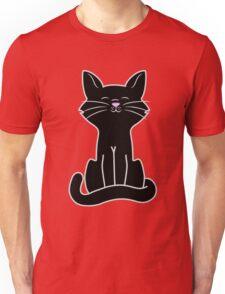 Sitting Black Cat Unisex T-Shirt