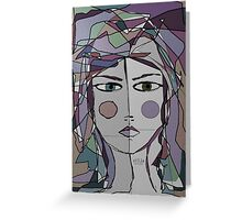 1woman Greeting Card
