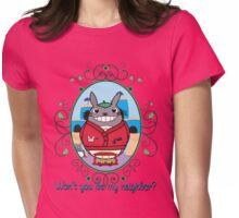 Mr. Totoro's Neighborhood. Womens Fitted T-Shirt