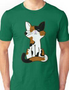 Sitting Calico Cat Unisex T-Shirt