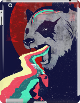 Angry Rainbow Panda by summerath