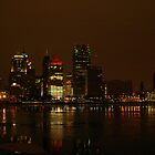 Detroit Skyline by Christmas Night II, by Elisabeth and Barry King™ by BE2gether