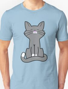 Sitting Gray Cat Unisex T-Shirt