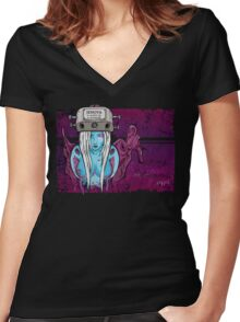Because You Are A Puppet... Women's Fitted V-Neck T-Shirt
