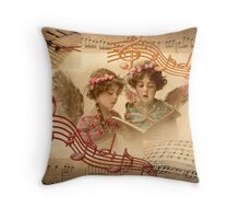 Heavenly Angelic Music (collage) Throw Pillow