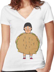 Gene Belcher Illustration Women's Fitted V-Neck T-Shirt