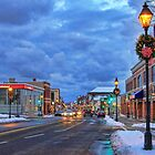 Yarmouth Main Street at Christmas by Debbie  Roberts