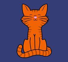 Sitting Orange Cat with Tiger Stripes Unisex T-Shirt
