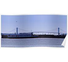The Verrazano-Narrows Bridge /Statue Cruises Miss Freedom Poster