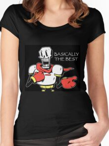 Papyrus from Undertale Women's Fitted Scoop T-Shirt