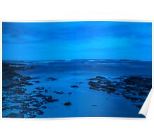 Moody Blue Seascape. Poster