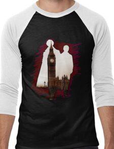 Sherlock Holmes Sillhoute Men's Baseball ¾ T-Shirt