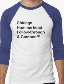 Top-gear test track corners Men's Baseball ¾ T-Shirt
