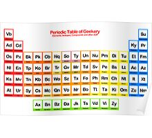Periodic Table of Geekery Poster