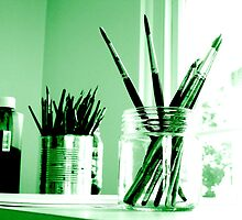 Green brushes by Solarbee