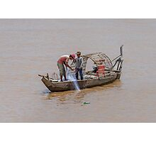 Fishing from the Mekong 2 Photographic Print