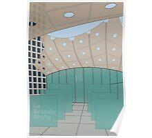 La Grande Arche de La Défense, interior area Poster