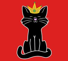 Black Cat Princess with Gold Crown Unisex T-Shirt