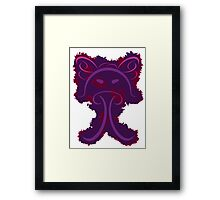 Frantonio (on purple with red) Framed Print