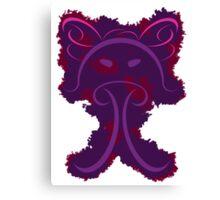 Frantonio (on purple with red) Canvas Print