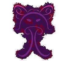 Frantonio (on purple with red) Photographic Print