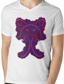 Frantonio (on purple with red) Mens V-Neck T-Shirt