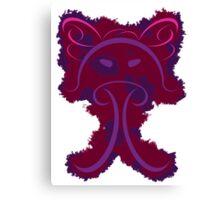 Frantonio (on red with Purple) Canvas Print