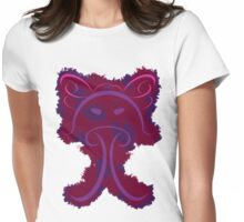 Frantonio (on red with Purple) Womens Fitted T-Shirt