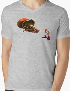 Earth Worm Jim making his big escape Mens V-Neck T-Shirt