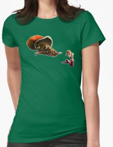 Earth Worm Jim making his big escape Womens Fitted T-Shirt