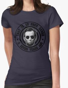 Hipster Abe Womens Fitted T-Shirt