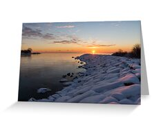 Subtle Pinks and Golds and Violets in a Bright Sunrise Greeting Card