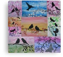 collage of sakura and more Canvas Print