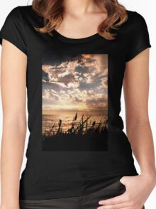 Dusk at Brighton Beach Women's Fitted Scoop T-Shirt