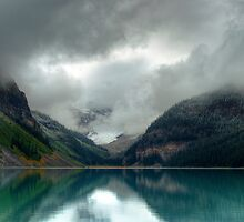 Light Snow at Lake Louise by Pauline Lewis