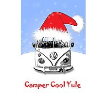 VW Camper Cool Yule Blue Photographic Print