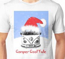 VW Camper Cool Yule Blue Unisex T-Shirt