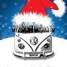 VW Camper Happy Holidays by splashgti