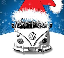 VW Camper Happy Holidays by splashgti