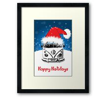 VW Camper Happy Holidays Framed Print