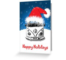 VW Camper Happy Holidays Greeting Card