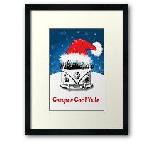 VW Camper Camper Cool Yule Christmas Framed Print