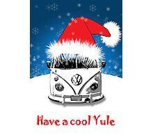 VW Camper Cool Yule Card Photographic Print