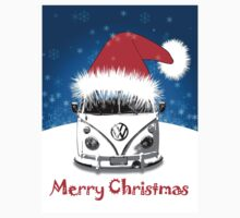 VW Camper Merry Christmas Card Kids Clothes