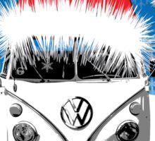 VW Camper Merry Christmas Card Sticker