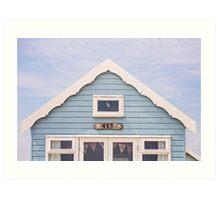Beach hut in blue Art Print