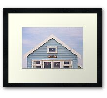 Beach hut in blue Framed Print