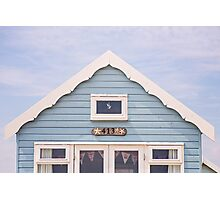 Beach hut in blue Photographic Print