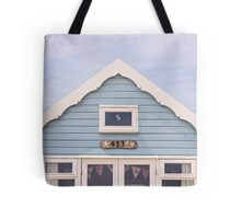 Beach hut in blue Tote Bag